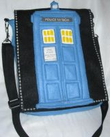 Tardis Fan Purse recycled water bottles by BeInkedDesigns