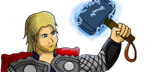 Thor - god of thunder by five-tailes