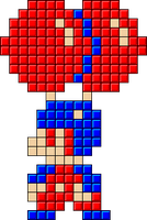 Tetris Balloon Fighter Sprite by mike1967-now