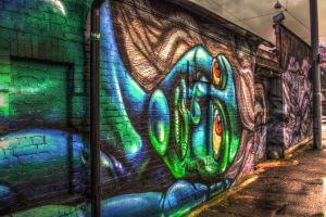 Grafitti in Gothenburg by Azph