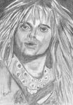 aceo, art trading card David Lee Roth by BethannNg
