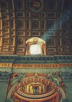 Light beam in St Peters Basilica by babylon6