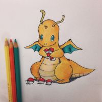 Chibi Dragonite by sebcol92