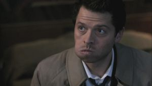 Castiel Eating Cheeseburgers by tiffanyh94