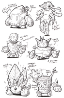 Sketches: Golems by KupoGames