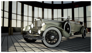1930 Emerson Model J Dual Cowl Phaeton Front by Pixel-pencil
