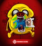 Adventure Time with Finn and Jake by brainwavedesigns
