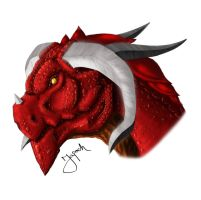 Mean red dragon by japochinezul