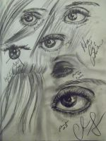 Eye and Hair practice by chelsmith18