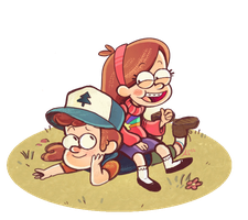 Dipper and Mable II by asmithart