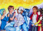 Commission: Group of Heroes by pink-gizzy