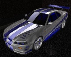 2Fast 2Furious Nissan Skyline by serolyx