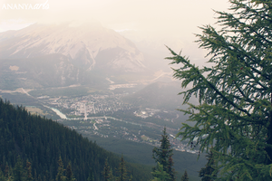 From the Sulphur Mountain by AnanyaArts