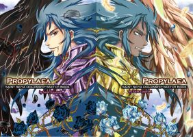 Propylaea Saint Seiya Artbook Front-Back by saintcosevent