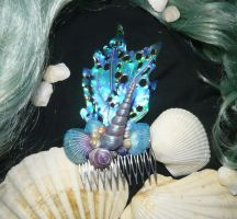 Merfolks Jewelry - Haircomb by Ganjamira