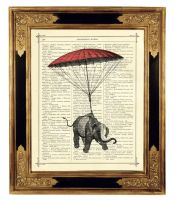 Steampunk Elephant Parachute by curiousprintery