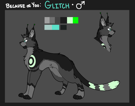 Because of You: Glitch Reference - 2017 by Muted-Song