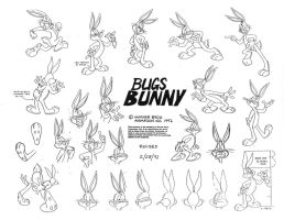 Bugs Bunny Model Sheet Ver. 5 by guibor