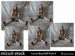 Green Rag Doll Pack 8 by mizzd-stock