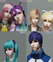 Vocaloid Sims 2 Style by NegativeDanna