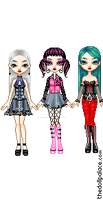 Monster High avatar dolls by DarkRoseDiamond123