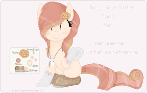 .: Gold Rose Glitter Pone custom for Meh Senpai :. by StarChaseSketches