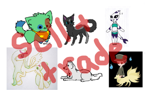 Reminder - Characters - Sell And Or Trade by ChibiFox12