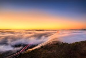 Golden Gate, dance of clouds by alierturk