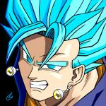 Super Vegetto SSJG by just3inchesunder