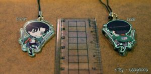 Levi -Shinegki no Kyojin- double-sided strap by UsagiNoOu