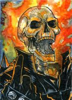 Ghost Rider 2 Sketch Card by DKuang
