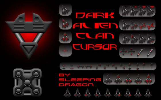 Dark Alien Clan Cursor by Sleeping-Dragon