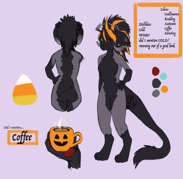 newer ref sheet for luci catmonster by Lucianthinus