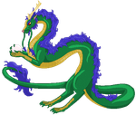Eastern Dragon Pixel by Fade-Away-Requiem