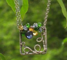 Small Wire Wrapped Square by AniqueDesigns