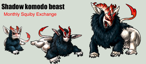 Adopt -Shadow komodo beast- by elen89