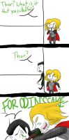 A Hunter and His Prey - Thor and Loki by Teddie-Chan