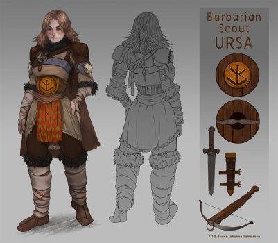 Barbarian Scout Ursa by juuhanna