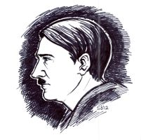 Hitler sketch by Sabellian