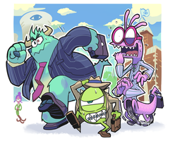 Monsters job hunting by Gashi-gashi