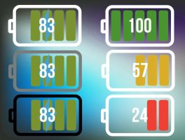 Material Battery Widget for xwidget by jimking