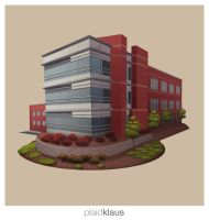 Building Illustration: Corporate Research Center by plaidklaus