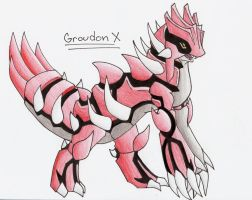Groudon X by CelestialTentails