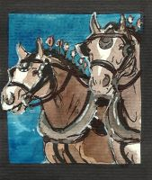 Work horse ACEO series 6 by jupiterjenny
