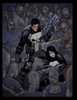Punisher/Vampy: Dawn of Dead by sykoeent