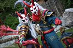 Blood Moon Kalista and Thresh by puppichu