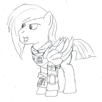 Lightning Cloud, my Fallout Equestria OC by Penguinator24