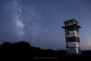 Milkyway Galaxy over Gooseberry Island (three) by maverick3x6