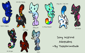 song inspired adoptables (free) closed by ThatAnimeDude