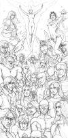Lots of X-Men - pencils by Ludi-Price